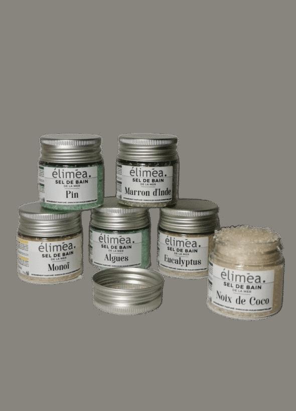 Coffret découverte Sel de Bain Marin Eliméa 6 pots de 70 gr