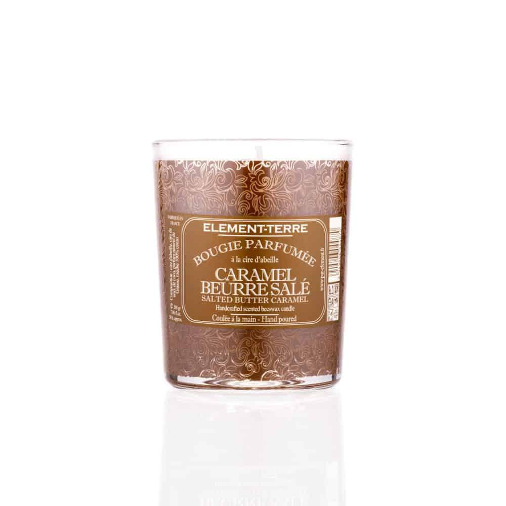 Bougie Naturelle Caramel Beurre Salé - Elément Terre - 200g