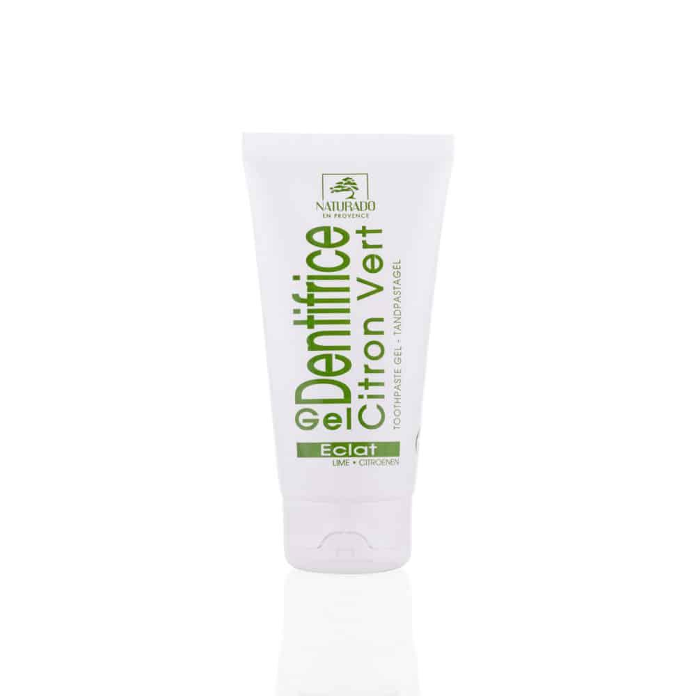 Tube Gel Dentifrice Citron Vert Argile Blanche Bio - Naturado - 75ml