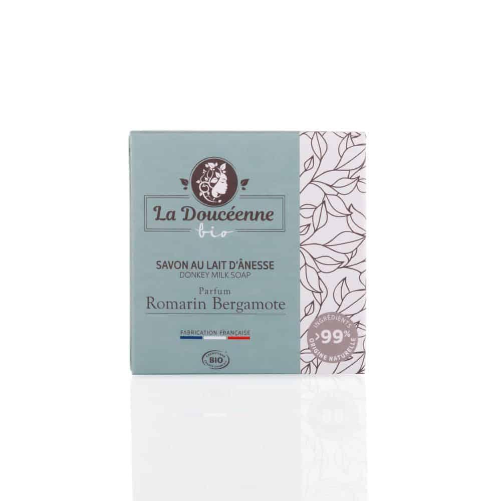 Savon au Lait d'Ânesse Bio - Romarin Bergamotte - La Doucéenne - 98g