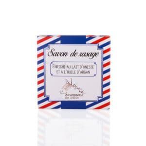 Savon de rasage au lait d'ânesse et à l'huile d'argan - Savonnerie des Collines - 100gr