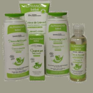Coffret Bébé toilette et soin bio- Alphanova