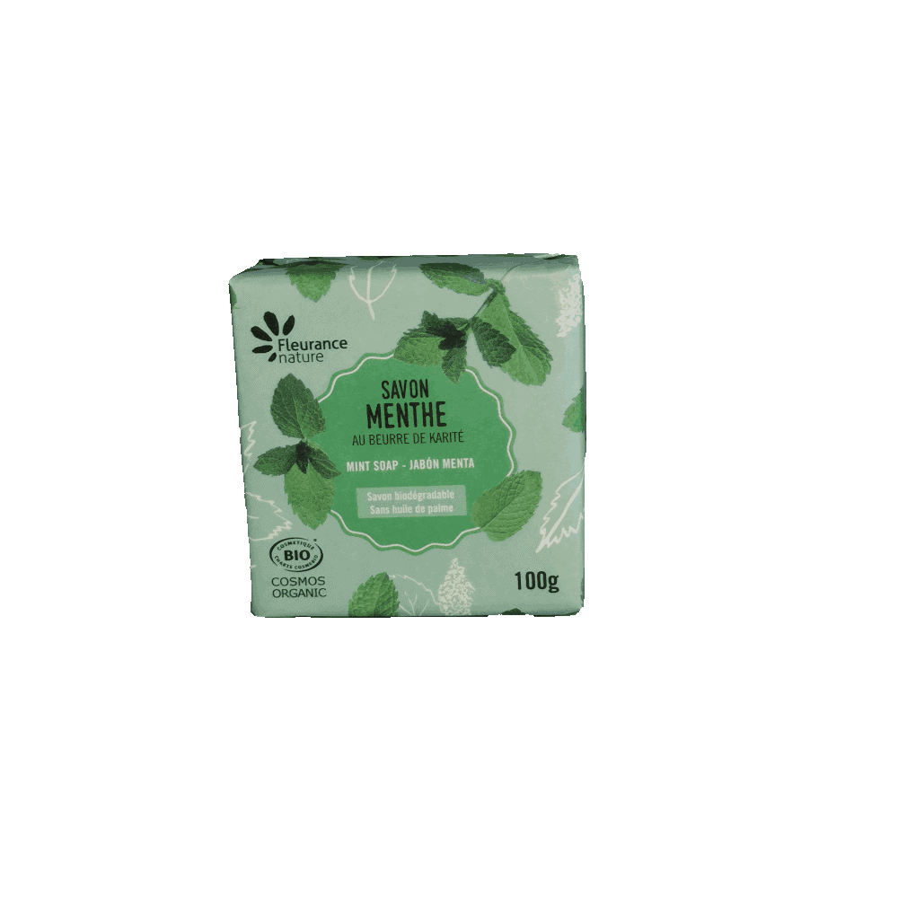 Savon parfumé Menthe BIO - Fleurance Nature - 100g