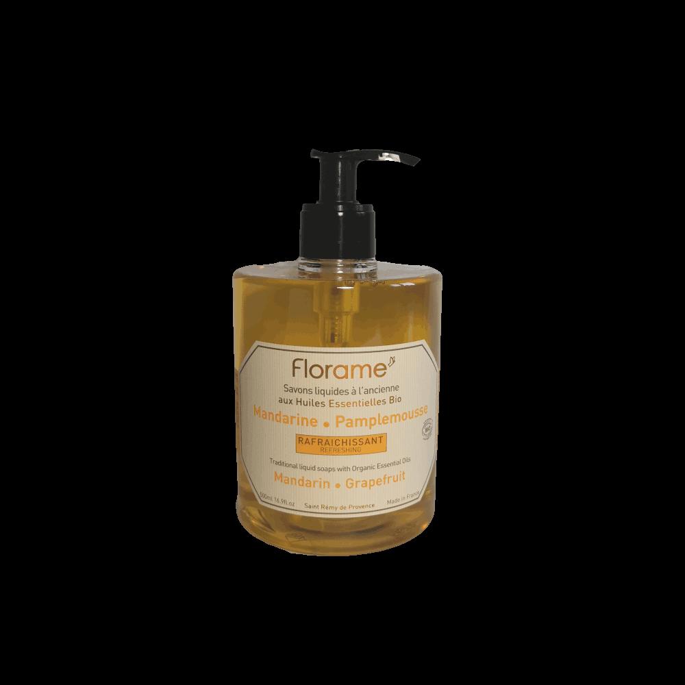 Savon Liquide Artisanal Mandarine-Pamplemousse - Florame - 500ml