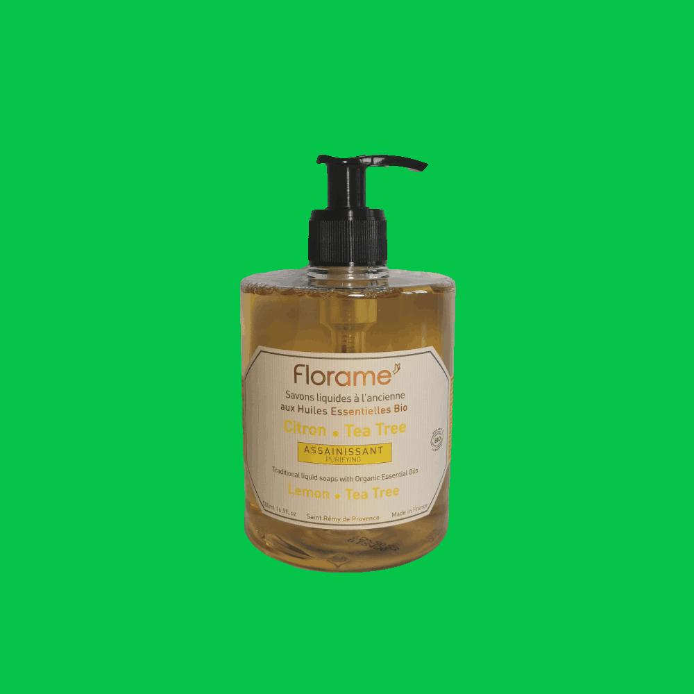 Savon Liquide Artisanal Citron-Tea Tree - Florame - 500ml