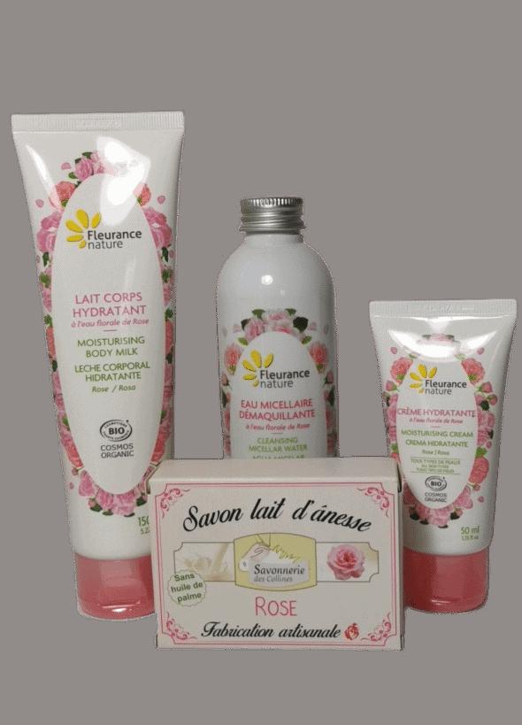 Coffret-Soin-Rose-Bio-Fleurance-Nature-Savonnerie-des-Collines