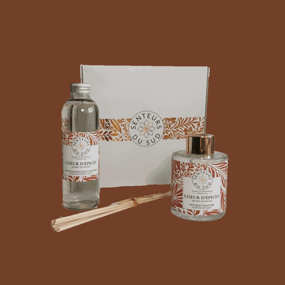 Coffret bouquet parfumé Coeur d'épices bio Senteurs du Sud