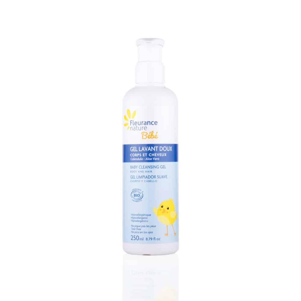 Gel Lavant Doux Corps & Cheveux Bébé Bio - Fleurance Nature - 250ml