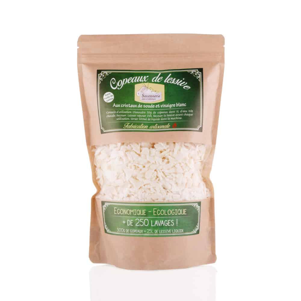 Copeaux de lessive aux cristaux de soude et vinaigre blanc - Savonnerie des Collines - 500gr